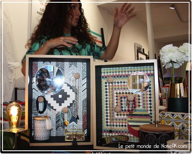 Socle à bijoux en papiers peints de Emmanuelle Rivassoux