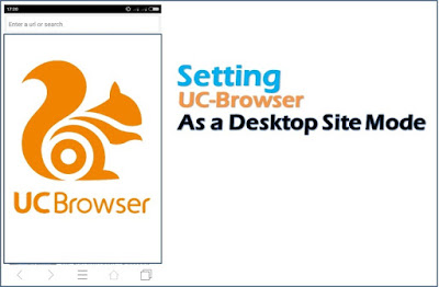 setting uc browser as desktop site mode