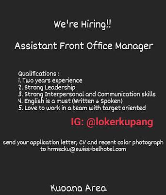 Lowongan Kerja Swiss Belhotel Area Kupang Sebagai Assisten Front Office Manager