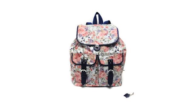 Женский рюкзак: хлопок и натуральная кожа. Ручная работа, высота 37 см, ширина 30 см. Доставка почтой или курьером
