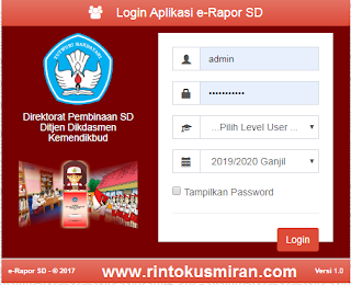 DOWNLOAD APLIKASI DAN PANDUAN E-RAPOR SD VERSI 1.0