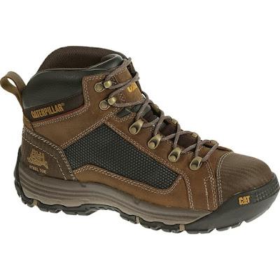 Sepatu Safety Caterpillar Convex mid ST Dark Beige Original