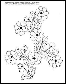 3 (unique) Flowers drawings designs-(free) images download for hand embroidery flower design on pencil drawing