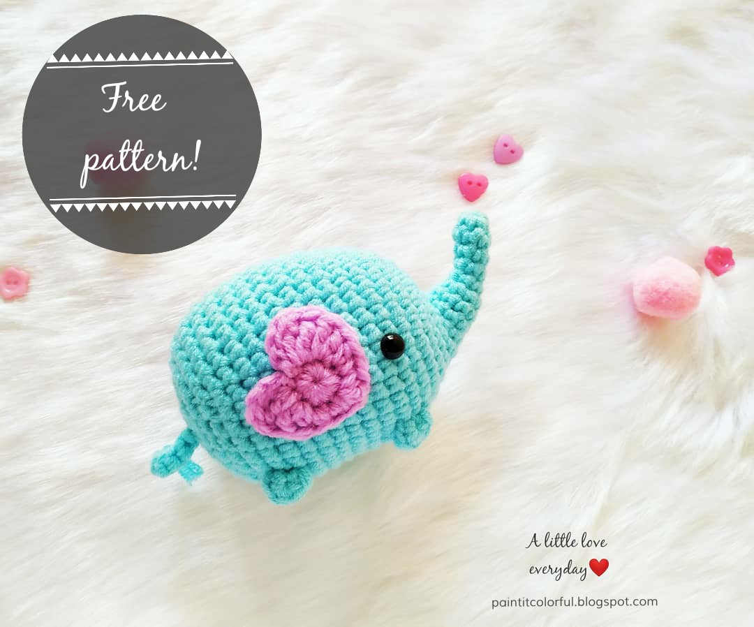 How to crochet amigurumi Elephant / zoo animal crochet tutorial ... | 898x1080