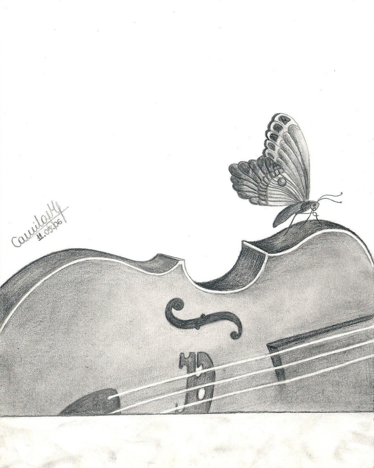 Mila Frade Art Design Desenho Violino