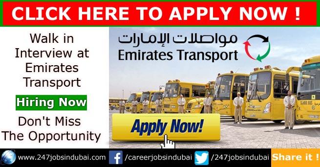walk in interview emirates transport