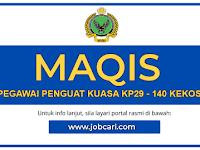 Jawatan Kosong di Jabatan Perkhidmatan Kuarantin dan Pemeriksaan Malaysia MAQIS