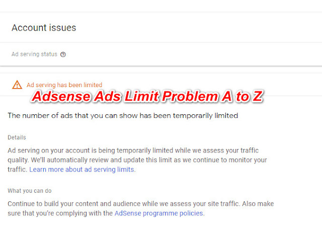 Adsense Ads Limited Problem In Hindi 2020 Fix Or Not Fix