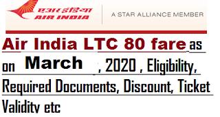 air-india-ltc-80-march-2020-fare