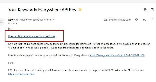 link api key