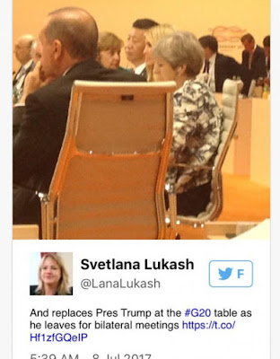 Out of line? Ivanka Trump pictured sitting on her father's seat with world leaders at G-20 Summit (photos)