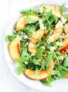 vegetarian nectarine salad