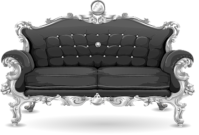 Black and silver couch
