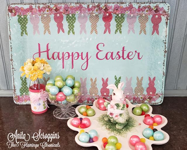 Mod Podge Easter Tray