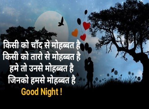 (NEW) 30+ Good Night Love Shayari | Love Good Night Status Shayari In Hindi