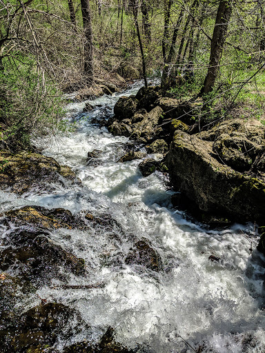 Water rushing below the Cox Hollow Lake Dam