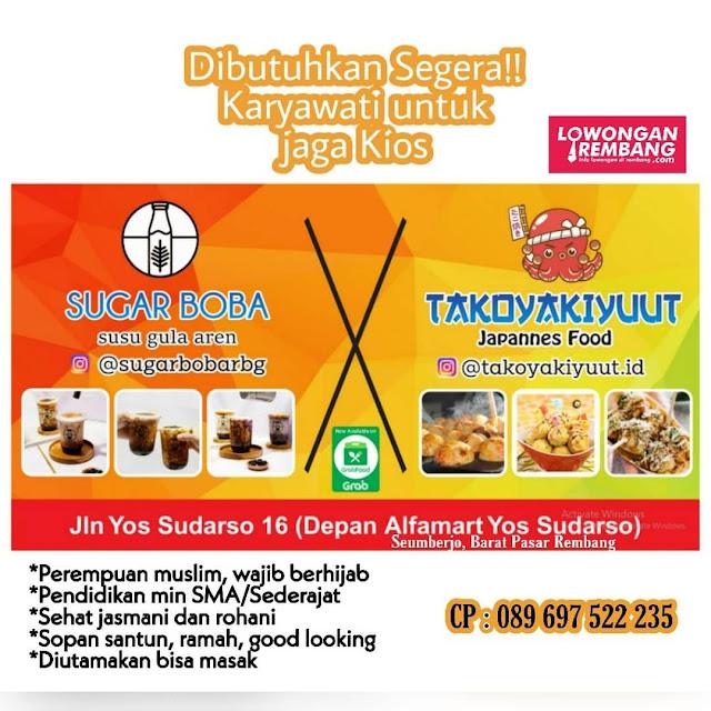 Lowongan Kerja Pegawai Sugar Boba Dan Takoyaki Yuut Rembang