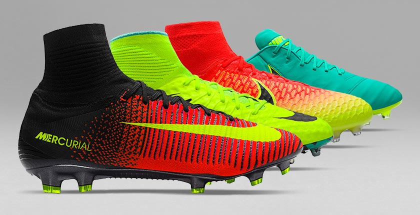 The Euro 2016 colorways of Nike football boots will be available to buy  from late May, 2016.