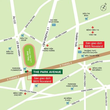 Vị trí Căn Hộ The Park Avenue