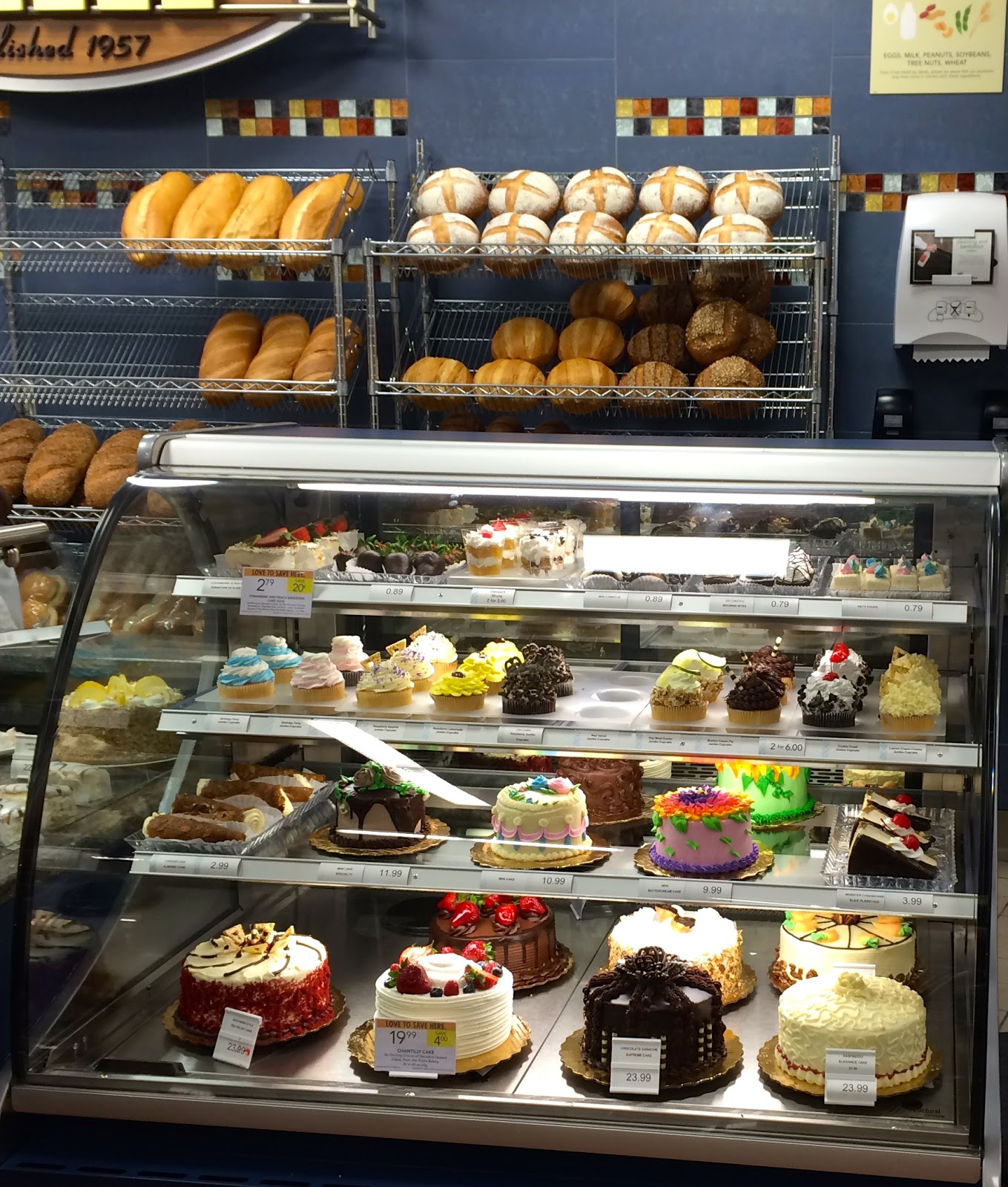 We make happiness in our Bakery. Smell the bread coming out of the oven. See the countless beautiful pastries and cakes arrayed behind glass. Imagine how delicious the danishes, donuts, brownies, pies, and muffins must taste.