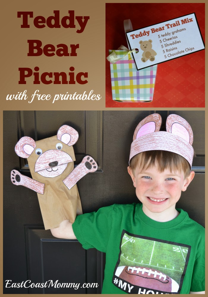 East Coast Mommy Number Crafts Number Five Teddy Bear Picnic