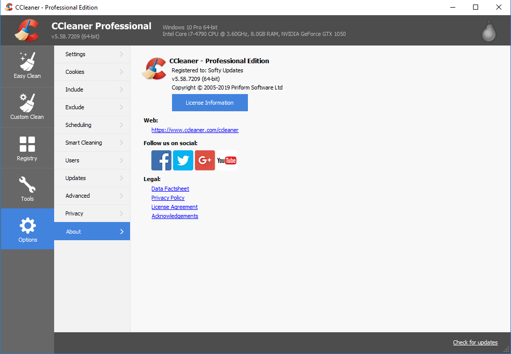 CCleaner 5.58.7209