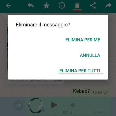 Come annullare un messaggio su WhatsApp