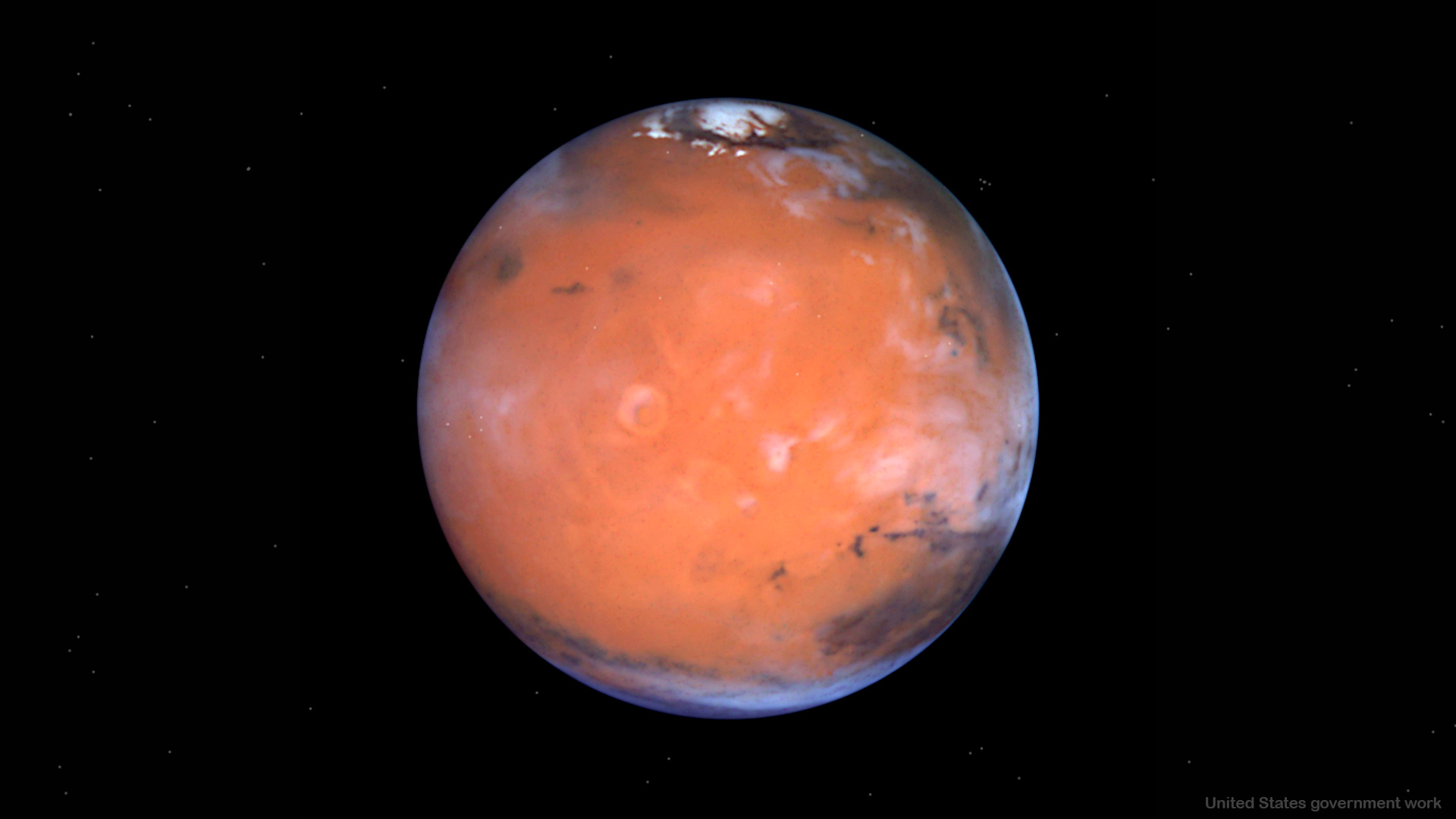 Planet Mars in Space Background optimized for presentations