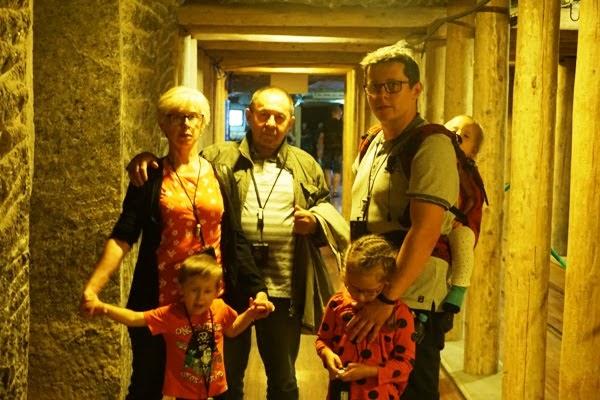 kopalnia soli w Wieliczce - rodzinne wejście