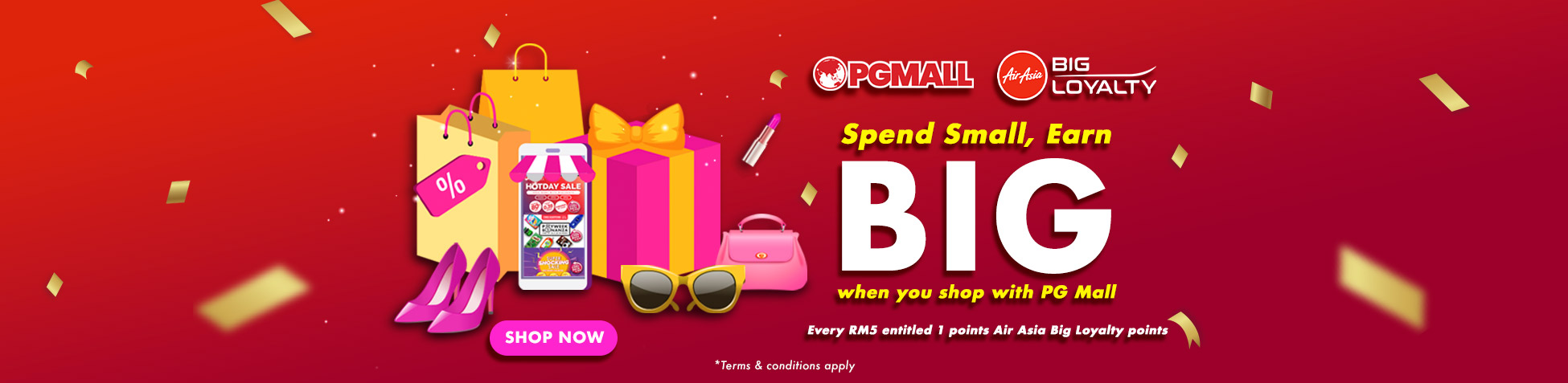 Get more Air Asia Big Loyalty Point at PG Mall