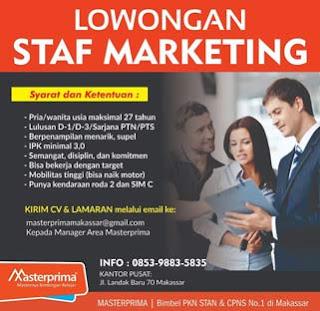 Lowongan Kerja di Master Prima Makassar