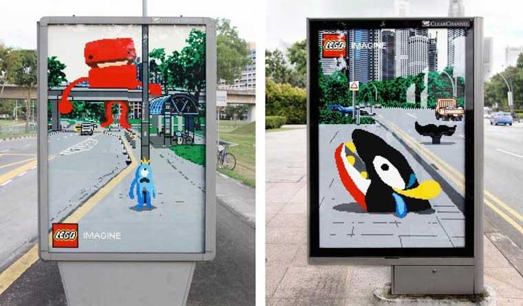 outdoors lego, rua, outdoor, anúncio