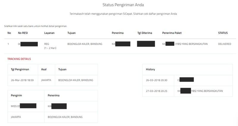 Arti Criss Cross dan Kode Resi Pengiriman Sicepat Terbaru - sicepat.com