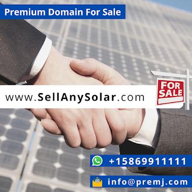SellAnySolar.com Premium Domain For Sale