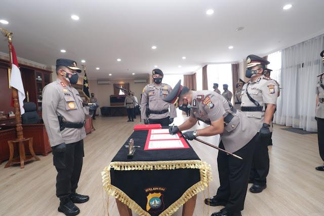 Kapolda Kepri Pimpin Sertijab Dirpolaairud dan Tiga Kapolres Jajaran Polda Kepri