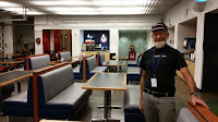 Jim Turner in the  U.S. Olympic Training Center's Athlete Center's cafeteria.