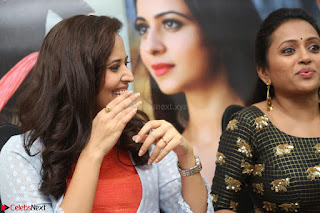 Actress Suma in Black Salwar Suit and Anusuya in orange Dress at winner movie press meet part 2 February 2017 (21).JPG