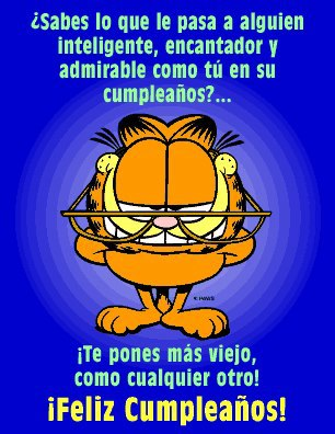 feliz cumple garfield