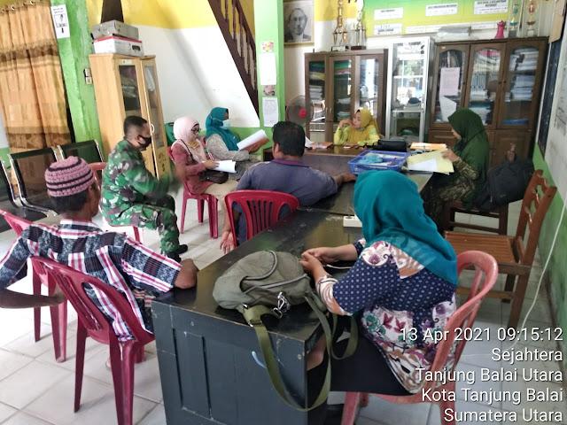 Pantau Giat Puldata Ter Yang Dilaksanakan Personel Jajaran Kodim 0208/Asahan Diwilayah Binaan