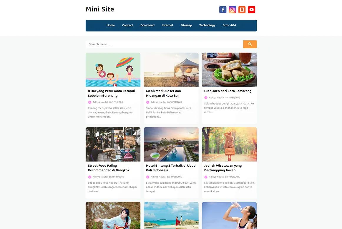Mini Site Grid Variant