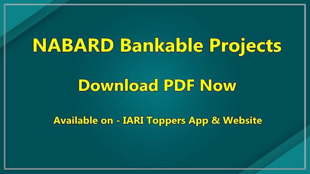 NABARD Bankable Projects PDF