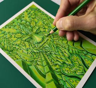The Green Man drawing