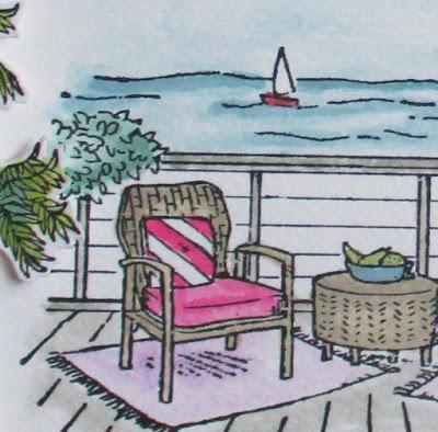 Craftyduckydoodah, Seaside View, Stampin' Up, Ink Stamp Share Blog Hop,
