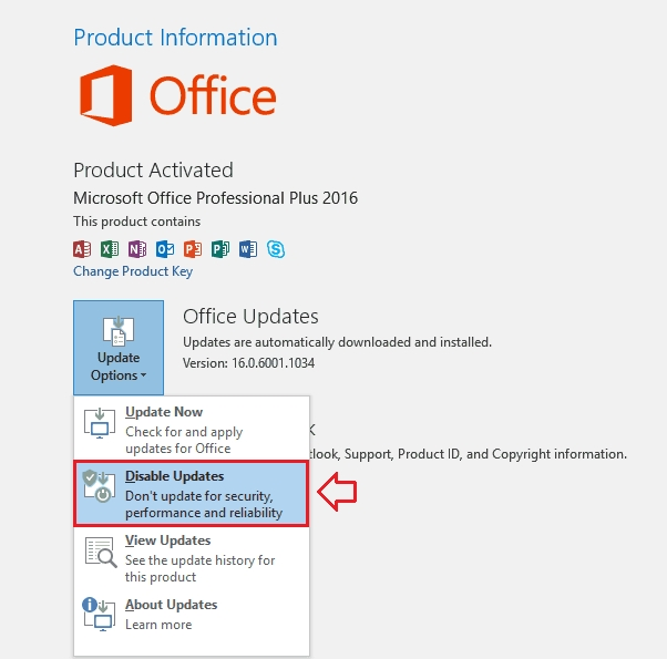 How to Disable Automatic Updates in Office