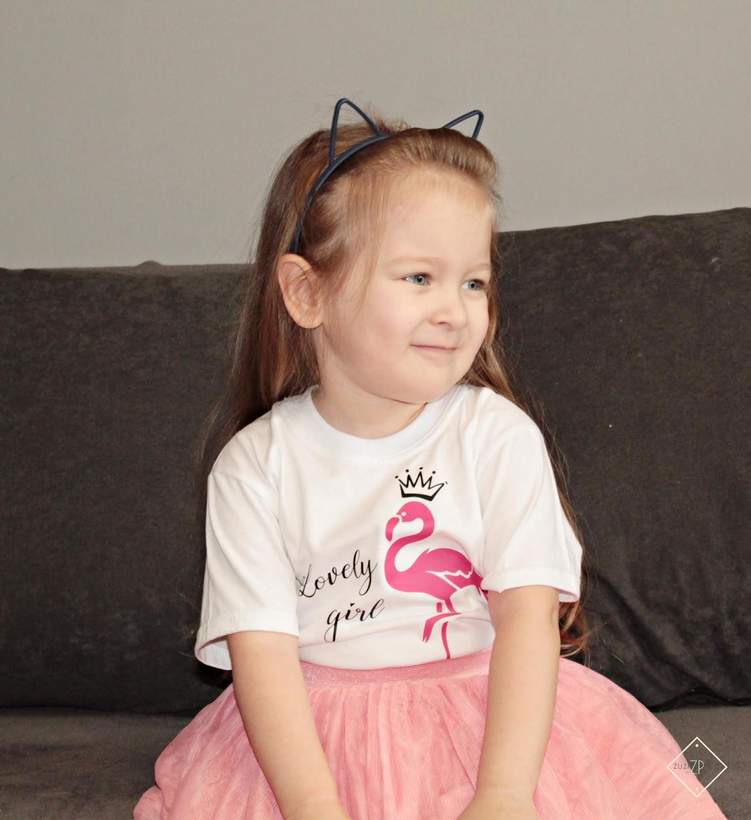 Koszulka Flaming z koroną Lovely girl moocha.pl