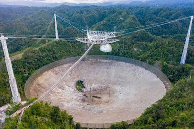 damaged radio antenna dish