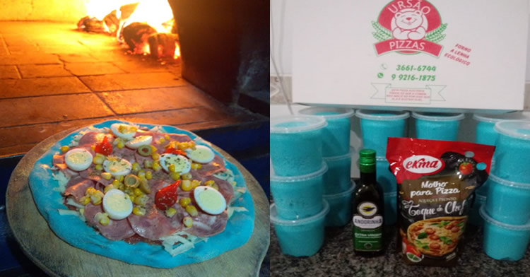 Pizza de massa azul: a mais nova maravilha da Feira Gastronômica