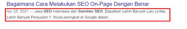 deskripsi meta di google