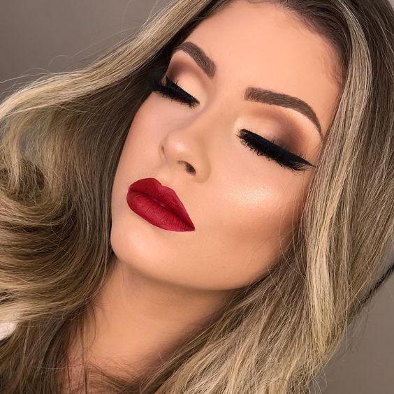maquillaje de noche sencillo