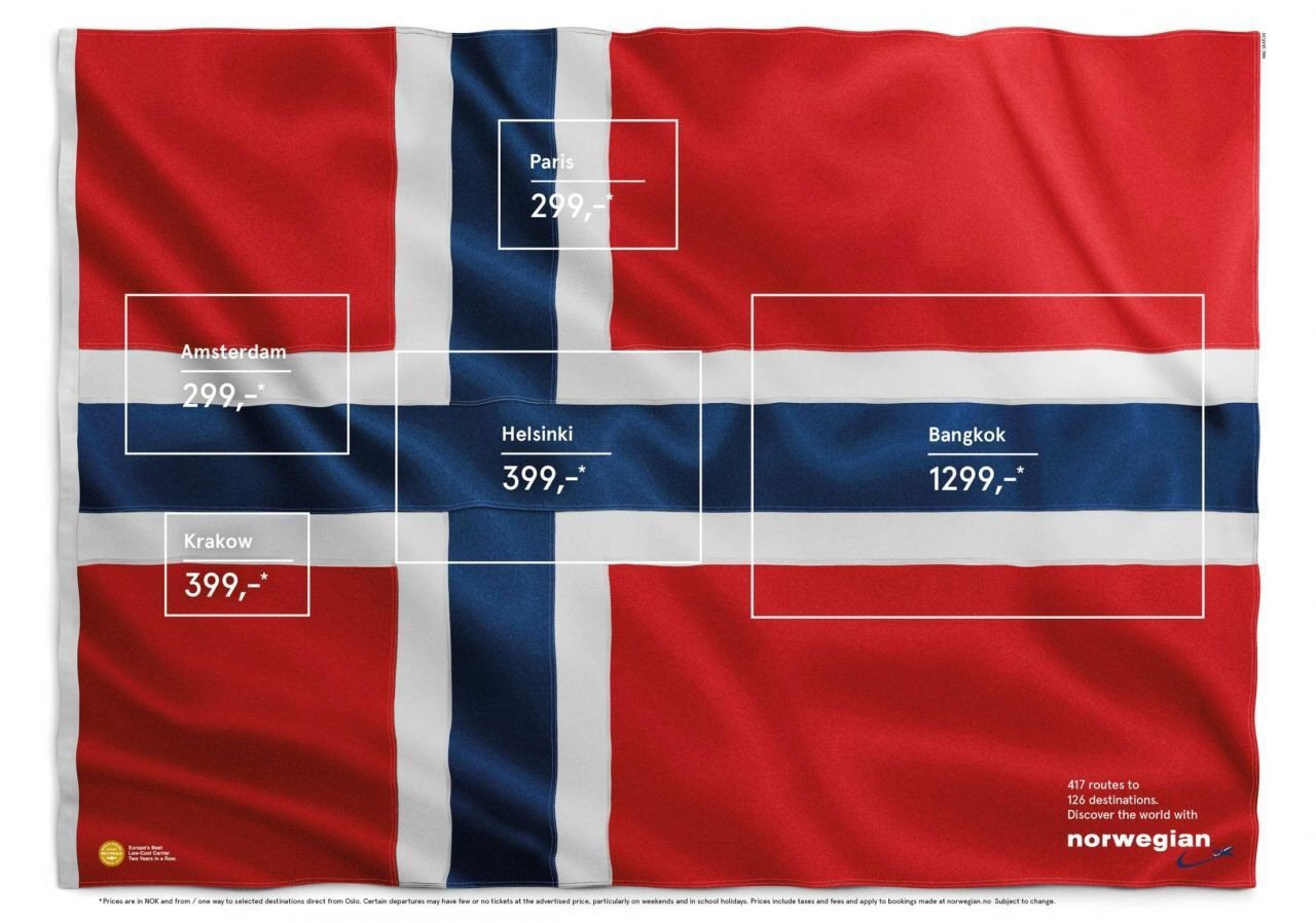 Norwegian Airlines: Flag of flags